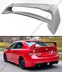 honda civic spoiler brake light mug rr jdm style primered trunk spoiler wing for 2006 2011 fa fa5