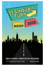 bagged the gs page 2 barnard nsop 2016 schedule book by barnard nsop issuu