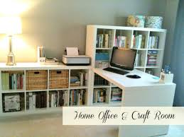 Using 2 Ikea Expedit Bookcases by Use 2 Expedits To Create Wall With Media Center Plus Desk
