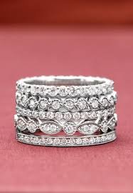 stackable diamond rings stacked diamond rings best 25 diamond stacking rings ideas on