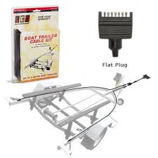 ledautolamps 6m boat trailer wiring kit 2xbc600 1xbcc1 7 pin flat