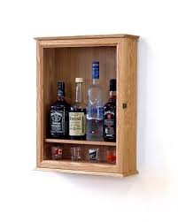 locking liquor cabinet wall mounted