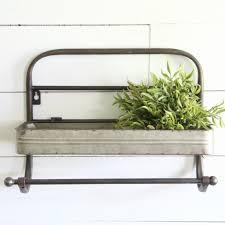 kitchen wall shelf with towel rack antique farmhouse