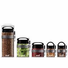 glass kitchen storage set black gloss set of 5 prepara