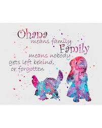 lilo u0026 stitch quote 2 watercolor art print lilo stitch stitch