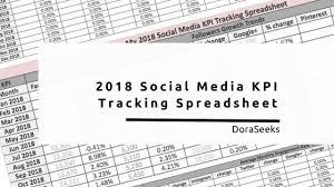 Social Media Tracking Spreadsheet by 2018 Social Media Kpi Spreadsheet Downloadable Template