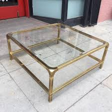 vintage square coffee table functional deco vintage square brass coffee table casa victoria