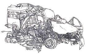 crashed cars netart