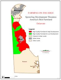 Map Delaware American Farmland Trust Resources Farming On The Edge Report
