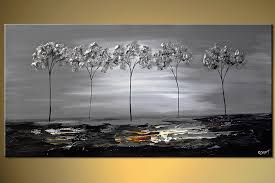 prints painting five silver trees 6432
