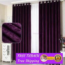 purple fabric bedroom door curtain design drapes sheer eyelets rod