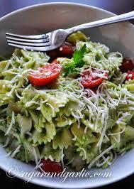 avocado pesto pasta salad sugar u0026 garlic