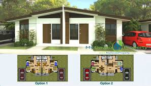 Floor Plan And Perspective Aspen Heights Subdivision Bianca Model Duplex Type