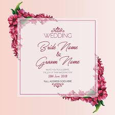 watercolor floral wedding invitation template free download on pngtree