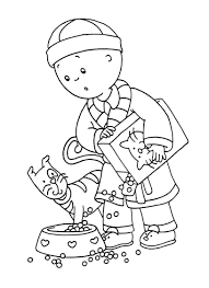 caillou gilbert coloring pages coloring pages