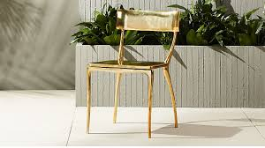 Gold Dining Chairs Midas Gold Dining Chair In Accent Chairs Reviews Cb2