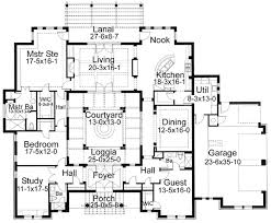 courtyard floor plans plan 16813wg center courtyard window master closet and house