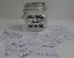 wedding wish jar wedding guest book wish jar wedding decoration or bridal
