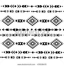 ethnic pattern design tribal decorative pattern stock vector