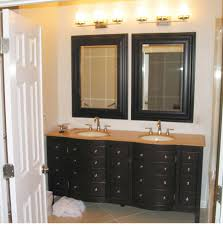 bathroom cabinets classic vanity wall mirror with black wooden