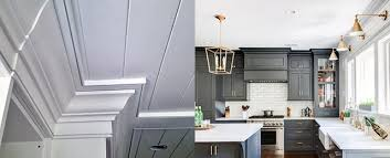 gray kitchen cabinets with white crown molding top 70 best crown molding ideas ceiling interior designs