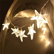 white string lights 20 led starfish shaped string lights warm white for