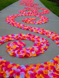petal aisle runner alohapink orange white petal swirl aisle runner