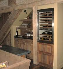hand crafted reclaimed lumber bar wine rack u0026 refrigerator door