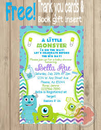 Shrimant Invitation Card Baby Shower Invitations Attractive Monsters Inc Baby Shower