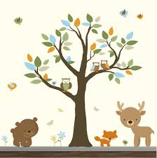 Vinyl Tree Wall Decals For Nursery by Forest Nursery Wall Decals Thenurseries