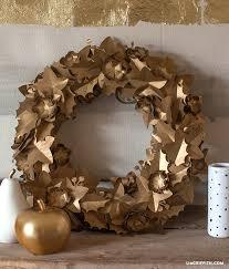 metallic gold paper wreath wreaths metallic gold and