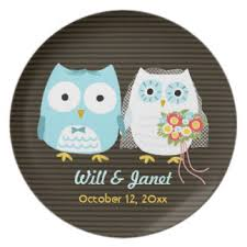and groom plates owl plates zazzle