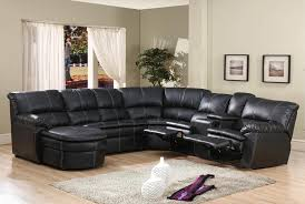 Reclining Leather Sectional Sofa 4 Pc Black Bonded Leather Sectional Sofa With Recliners And Chaise