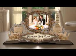 project wedding album wedding album pop up book after effects project files
