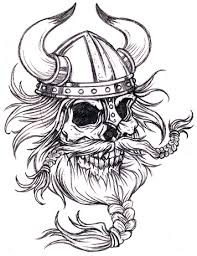 viking warrior skull tattoo sample