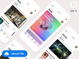 ios11 app store gui sketch freebie app store app and ui ux