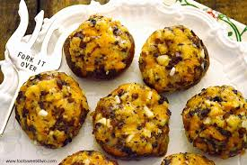 thanksgiving leftovers cornbread stuffed mushrooms