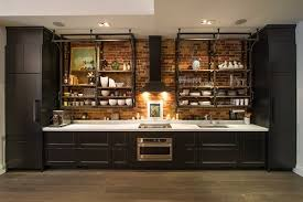 Black Cabinets White Countertops Contemporary Kitchen Industrial Style Design Black Cabinetry White