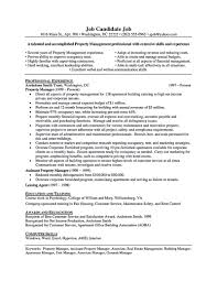 Sample Resume For Manager by Property Manager Resume Should Be Rightly Written To Describe Your