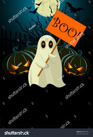zombie halloween invitations halloween invitation very cute ghost sign stock vector 63861532