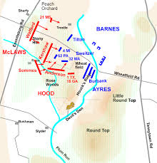 Gettysburg Map The Battle Of Gettysburg Day 2