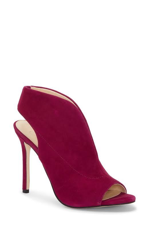 Jessica Simpson Javrey Suede Peep-Toe Heels Purple 7.5 Medium (B,M)