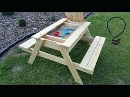 kids picnic table plans lifetime kids picnic table with benches sandbox picnic table plan