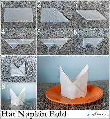 how to fold table napkins bishop hat napkin fold how to fold a napkin pinterest napkins