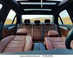 Brown Car Interior Inside Car Interior Front Back Seats Stock Photo 577977301