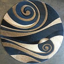 Sculptured Area Rugs Amazon Com Modern Round Area Rug Blue Sculpture Design 258 5