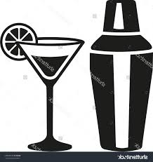 cocktail vector top stock vector cocktail martini glass with shaker images