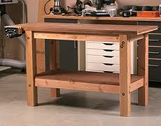 Free Simple Wood Workbench Plans free woodworking plans from getting started in woodworking