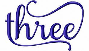 word design three machine embroidery word design