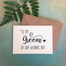 wedding day card for groom wedding day card to my groom card to groom gift gift to